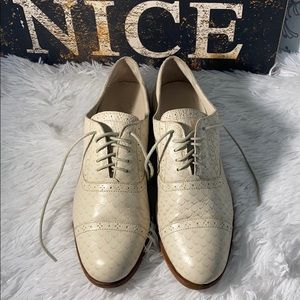 Cole Haan leather snake reptile textured oxfords 9